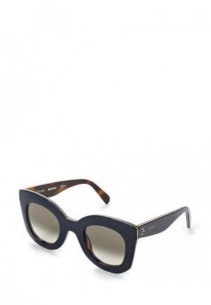 Очки солнцезащитные Celine. Цвет: синий