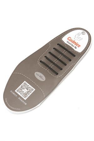 Силиконовые шнурки Классика COOLNICE. Цвет: черный