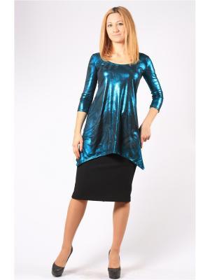 Блузка BERKANA. Цвет: бирюзовый