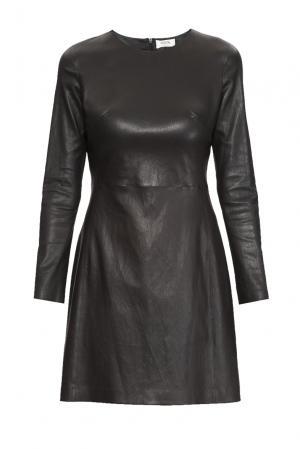 Кожаное платье 160638 Izeta. Цвет: черный