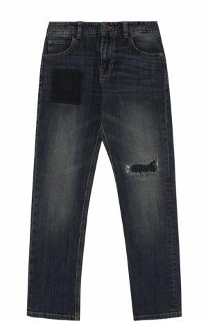 Джинсы с декоративными потертостями Marc Jacobs. Цвет: синий