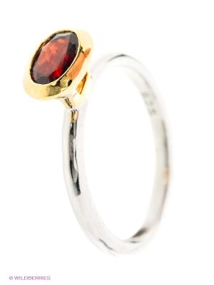 Кольцо BALEX. Цвет: серебристый, красный, золотистый