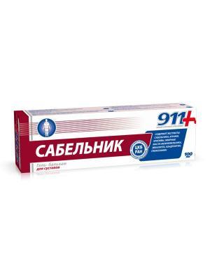 Сабельник. Бальзам для тела при боли в суставах и мышцах 911 Ваша служба спасения (100 мл) ТВИНС Тэк. Цвет: синий, белый, темно-бордовый