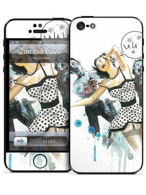 Виниловая наклейка для iPhone 5 Zombie Love-Lora Gelaskins. Цвет: белый, черный, бежевый, голубой