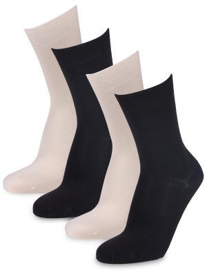 Носки Manly, (4 пары) Artsocks. Цвет: бежевый, черный