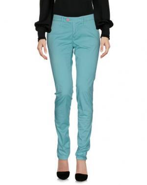 Повседневные брюки OAKS. Цвет: светло-зеленый