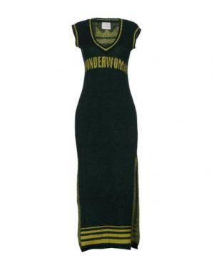 Длинное платье LOU LONDON. Цвет: изумрудно-зеленый