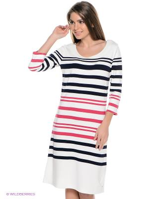 Платье Luhta. Цвет: белый