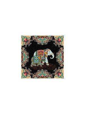 Гобеленовая наволочка ИНДИЙСКИЙ СЛОН(спокойствие) 50х50 см Рапира. Цвет: черный