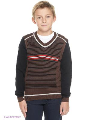 Пуловер ШАЛУНЫ. Цвет: коричневый