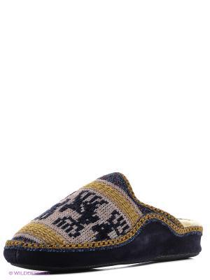 Испанские тапочки Mon Ami. Цвет: синий
