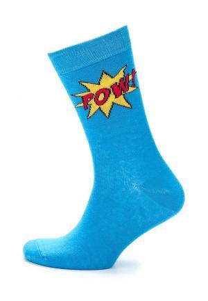 Носки Topman. Цвет: голубой