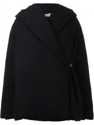 Куртка с капюшоном Toteme. Цвет: чёрный