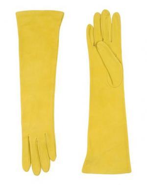 Перчатки DSQUARED2. Цвет: желтый