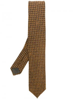 Галстук с мелким узором Delloglio Dell'oglio. Цвет: коричневый