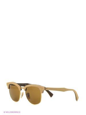 Солнцезащитные очки CLUBMASTER (M) Ray Ban. Цвет: светло-коричневый