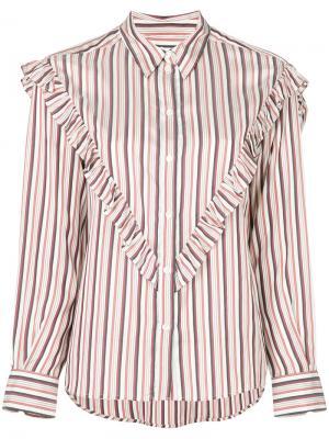 Блузка с оборками Masscob. Цвет: многоцветный