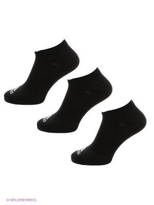 Носки, 3 пары Adidas. Цвет: черный