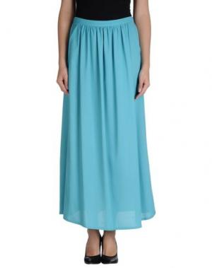 Длинная юбка BEAYUKMUI. Цвет: бирюзовый