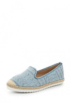 Эспадрильи Ideal Shoes. Цвет: голубой