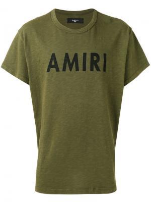Logo print T-shirt Amiri. Цвет: зелёный