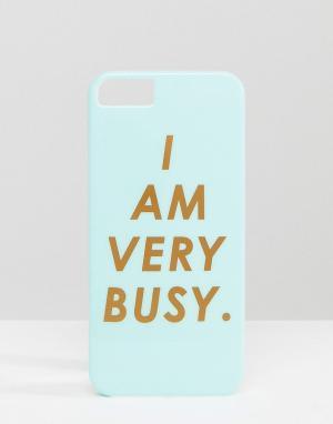 BAN DO Чехол для IPhone 5 с надписью I Am Very Busy Ban.Do. Цвет: синий