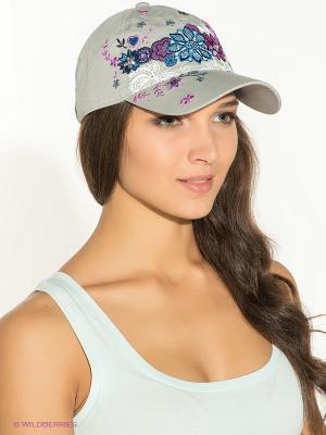 Бейсболка Maxval. Цвет: серый, фиолетовый, синий
