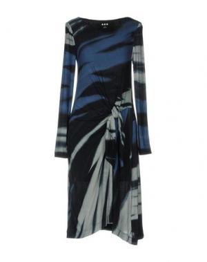 Платье до колена THREE DOTS. Цвет: грифельно-синий