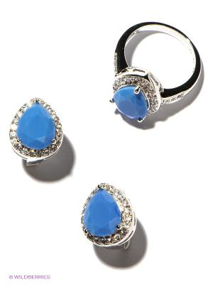 Комплект Lovely Jewelry. Цвет: голубой, серебристый