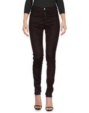 Джинсовые брюки SHAFT. Цвет: красно-коричневый