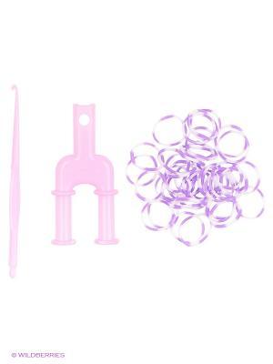 Набор для плетения Loom Bands. Цвет: фиолетовый, белый