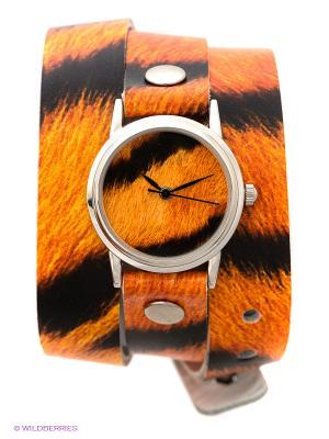 Часы DenisMart. Цвет: оранжевый, черный