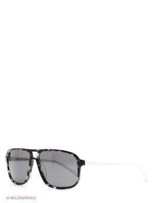 Солнцезащитные очки United Colors of Benetton. Цвет: серый, белый