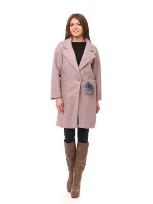 Пальто LaBella Vita. Цвет: розовый