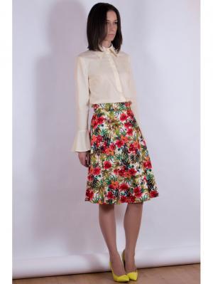 Блузка VERDEREVSKAYA. Цвет: кремовый