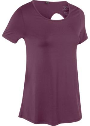 Спортивная футболка (цвет бузины) bonprix. Цвет: цвет бузины