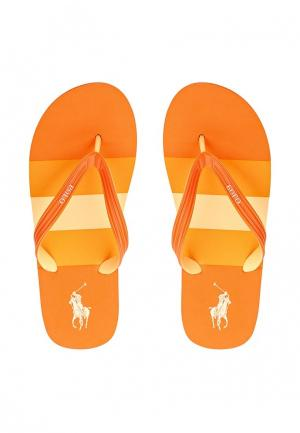 Сланцы Polo Ralph Lauren. Цвет: оранжевый