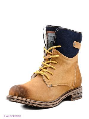 Ботинки Shoiberg. Цвет: желтый