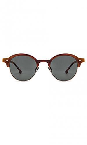 Солнцезащитные очки starr Steven Alan. Цвет: коричневый
