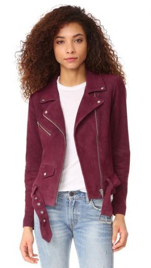 Замшевая куртка Jayne VEDA. Цвет: виноградная содовая