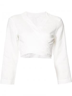 Блузка-кимоно Lisa Marie Fernandez. Цвет: белый
