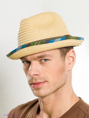 Шляпа Goorin Brothers. Цвет: бежевый, бирюзовый, коричневый