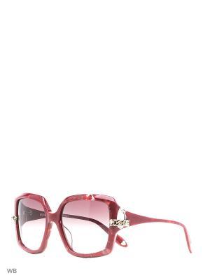 Солнцезащитные очки MO 769S 02 MOSCHINO. Цвет: красный