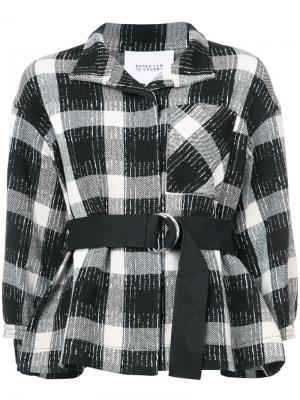 Пиджак с приспущенными плечами и поясом Derek Lam 10 Crosby. Цвет: чёрный