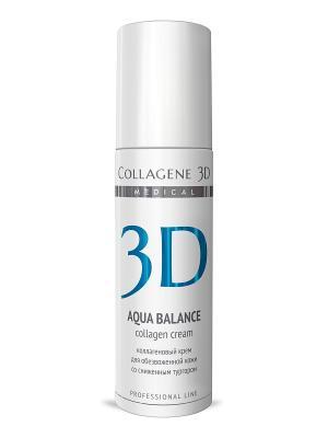 Крем-эксперт  ПРОФ Aqua Balance 150 мл Medical Collagene 3D. Цвет: белый, голубой