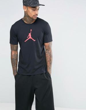 Jordan Черная футболка Nike Jumpan 801051-010. Цвет: черный