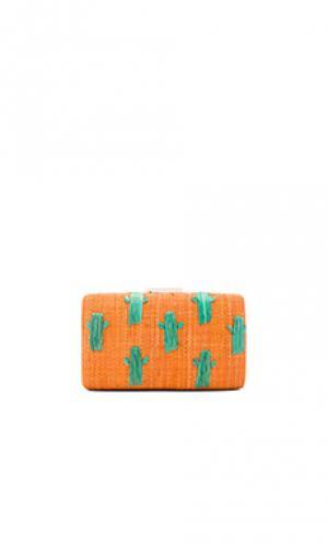 Клатч cactus KAYU. Цвет: оранжевый