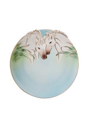 Блюдо Лошадь 18см (Pavone) Pavone. Цвет: серо-голубой