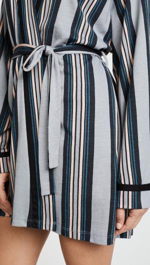 Bella Wide Stripe Robe Cosabella