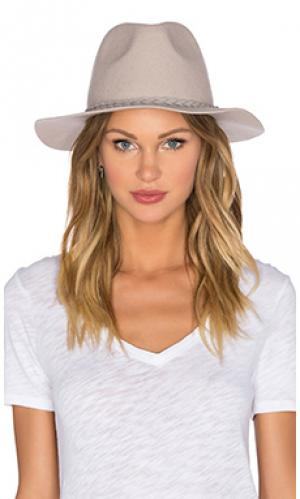 Шляпа федора shes twisted Michael Stars. Цвет: серый